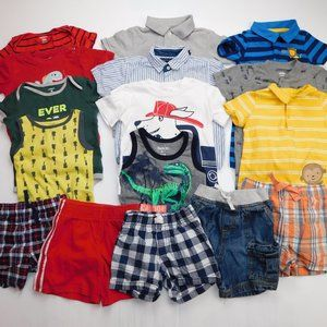 16 pc Baby Boy 18-24 Months Summer Clothing Lot